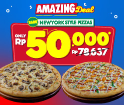 2 Newyork Style Pizza 50K / Pizza