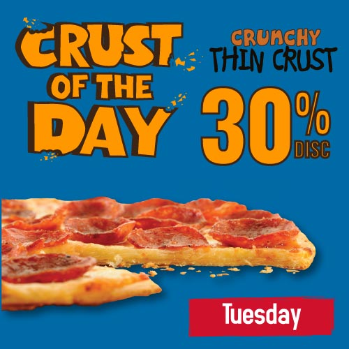 CRUST OF THE DAY - TUESDAY