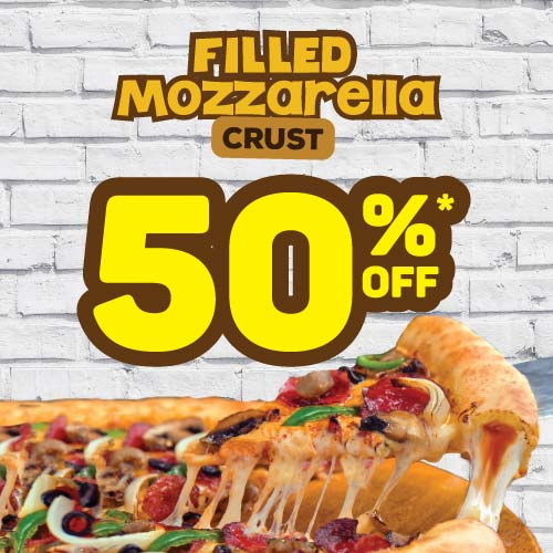 50% OFF SECOND PIZZA