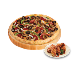Pizza + Chicken Sides ONLY 80K