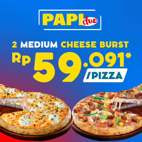 Paket Medium Dua Pizza - Cheese Burst