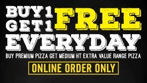 Buy 1 Get 1 Free Pizza (Online)