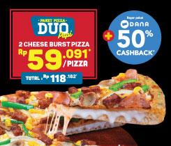 PAKET PIZZA DUO (CHEESE BURST)