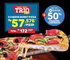 Paket Pizza Trio - Cheese Burst Pizza