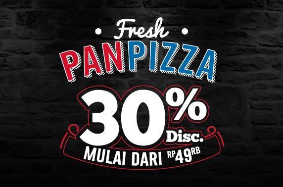 30% Pan Pizza Online Order