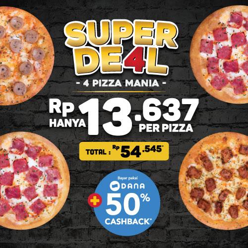 4 PERSONAL PIZZA HANYA 54K