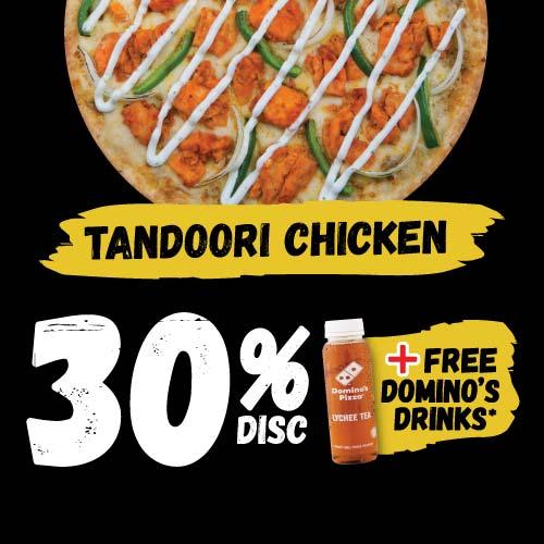 Disc 30% Tandoori Chicken + Free Tea