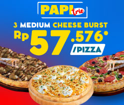 Paket Pizza Trio - Cheese Burst Pizza
