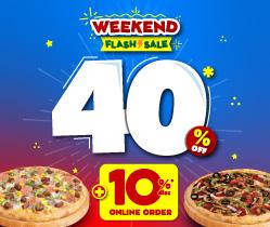 Weekend Flash Sale 40% + 10% OFF