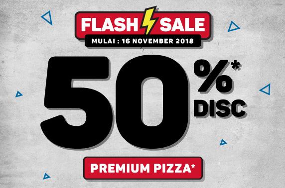 50% OFF PREMIUM PIZZA