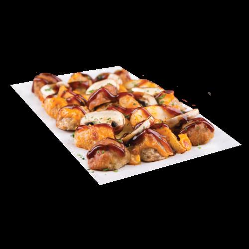 BBQ Meatball Potato Bake